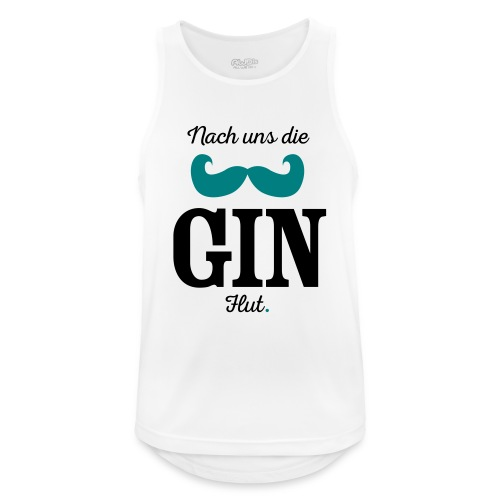Nach uns die Gin-Flut - Männer Tank Top atmungsaktiv