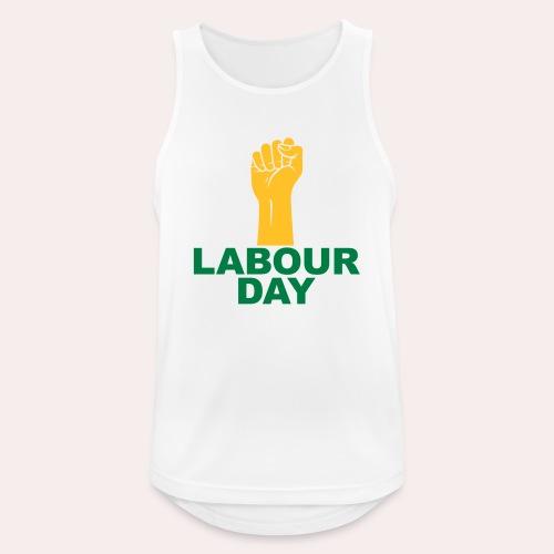 Día del trabajo / Puño en alto - Camiseta sin mangas hombre transpirable
