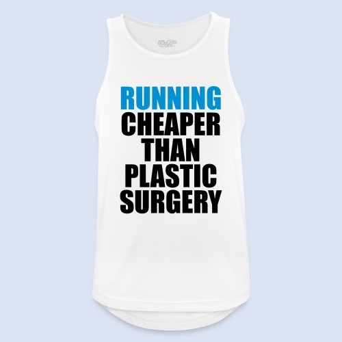 Running is cheaper than - Männer Tank Top atmungsaktiv
