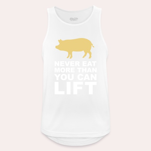 Nunca comas más de lo que puedas levantar - Camiseta sin mangas hombre transpirable