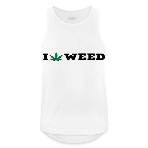 I LOVE WEED - Men's Breathable Tank Top