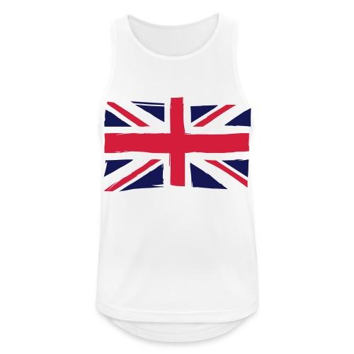 vlag engeland - Mannen tanktop ademend