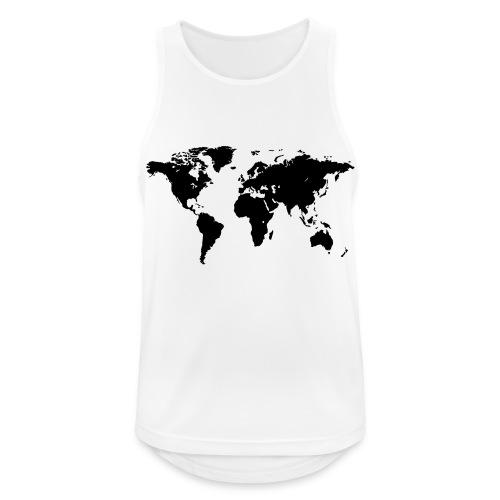 World Map - Männer Tank Top atmungsaktiv