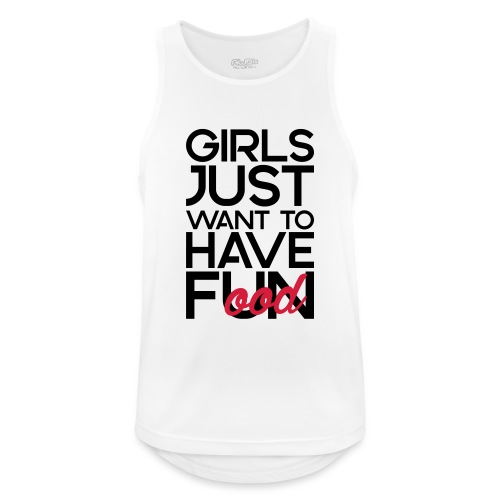 Girls just want to have food - Mannen tanktop ademend