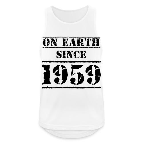on Earth since 1959 60 Geburtstag Happy Birthday - Men's Breathable Tank Top