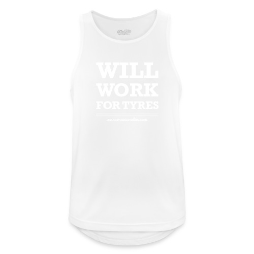Will Work For Tyres v2 - Men's Breathable Tank Top