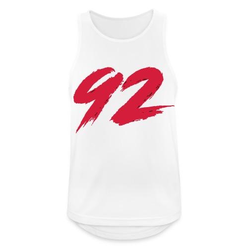92 Logo 1 - Männer Tank Top atmungsaktiv