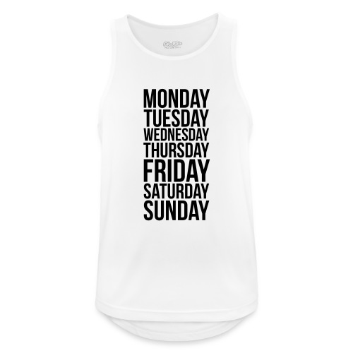 Days of the Week - Men's Breathable Tank Top