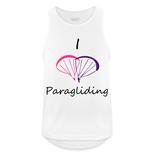 I Love Paragliding V2 - Men's Breathable Tank Top