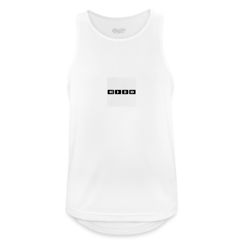 black-rewind-play-pause-forward-t-shirts_design - Mannen tanktop ademend actief