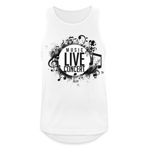 musica - Camiseta sin mangas hombre transpirable