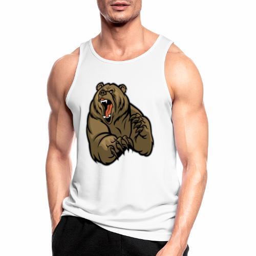 méchant grizzli - Débardeur respirant Homme