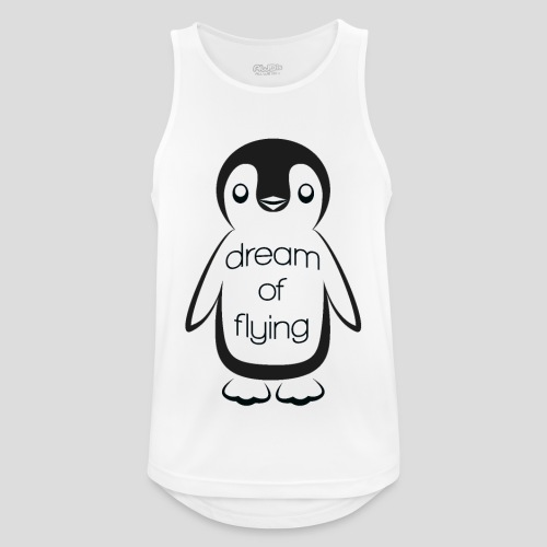 Dream of Flying Pinguin - Men's Breathable Tank Top
