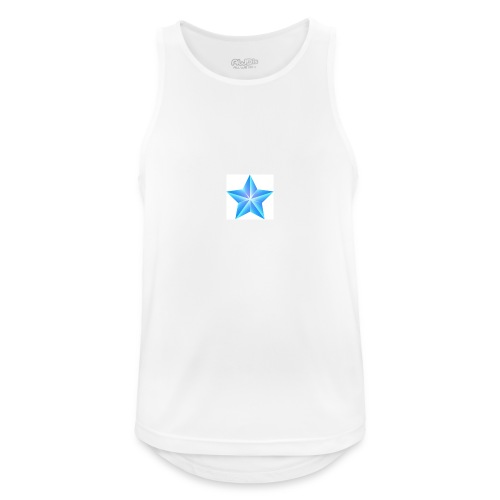 blue themed christmas star 0515 1012 0322 4634 SMU - Men's Breathable Tank Top