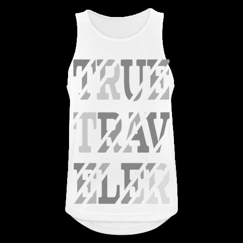 True Traveler Grey design - Miesten tekninen tankkitoppi
