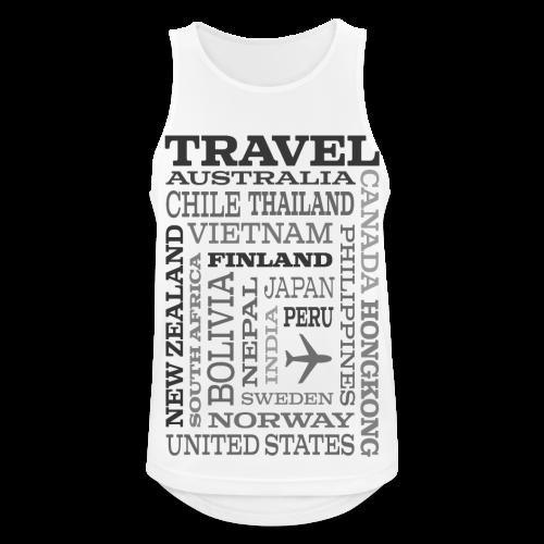 Travel Places Gray design - Miesten tekninen tankkitoppi