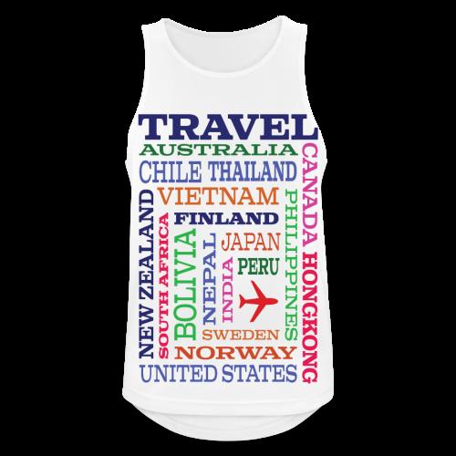 Travel Places design - Miesten tekninen tankkitoppi