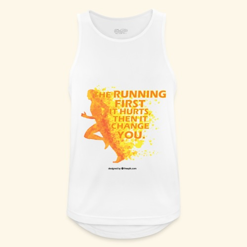Motivo _ The Running First it Hurts - Canotta da uomo traspirante