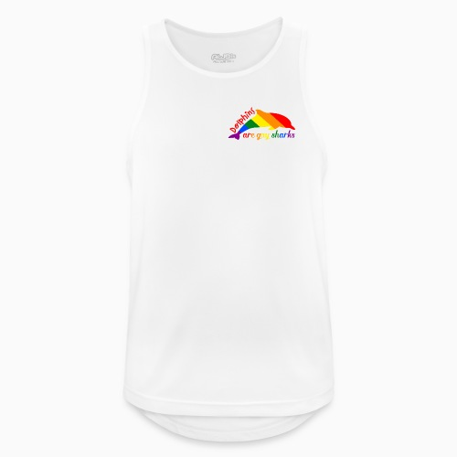 Dolphins are gay sharks! - Men's Breathable Tank Top