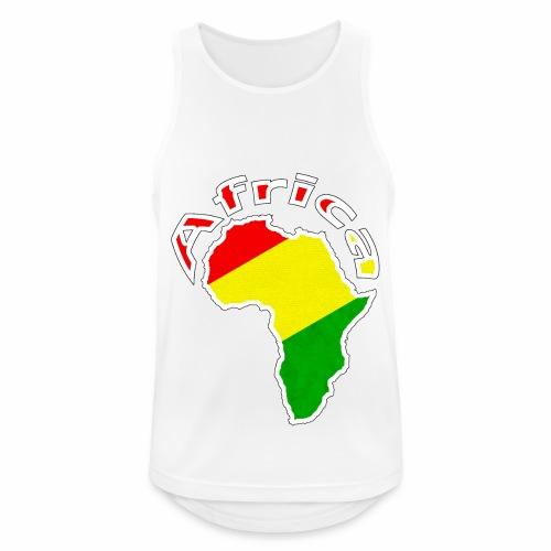 Afrika - rot gold grün - Männer Tank Top atmungsaktiv