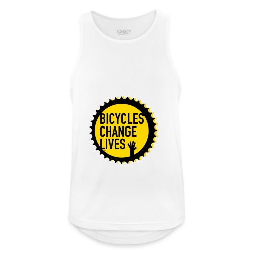 BCL Shirt Back White - Men's Breathable Tank Top