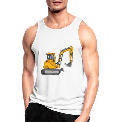 BAGGER, gelbe Baumaschine mit Schaufel und Ketten - Männer Tank Top atmungsaktiv