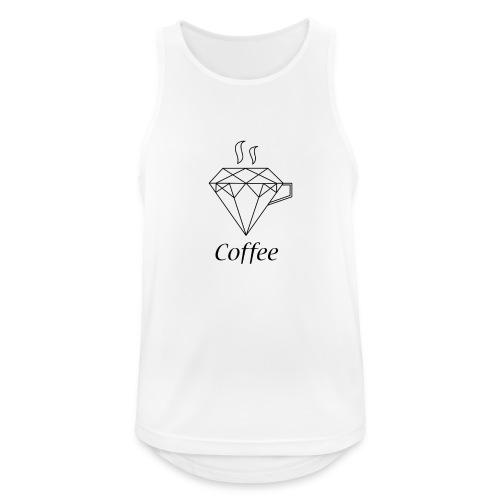 Coffee Diamant - Männer Tank Top atmungsaktiv