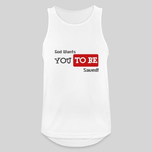 God wants you to be saved Johannes 3,16 - Männer Tank Top atmungsaktiv