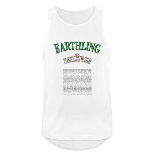 Earthling - Citizen of the World - Andningsaktiv tanktopp herr