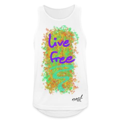 live free - Männer Tank Top atmungsaktiv