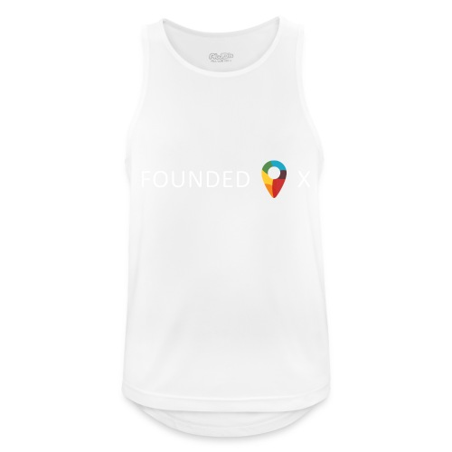 FoundedX logo white png - Men's Breathable Tank Top