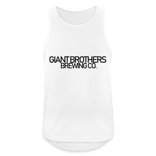 Giant Brothers Brewing co SVART - Andningsaktiv tanktopp herr