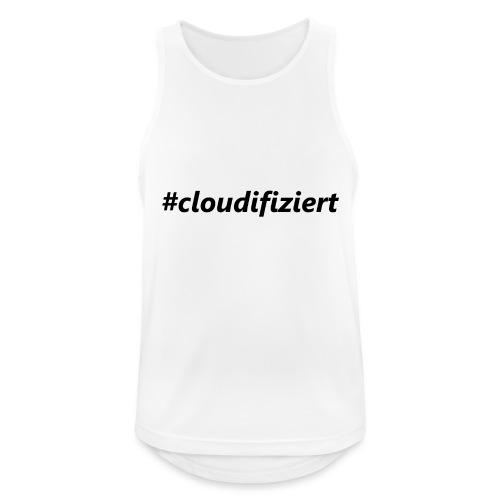 #cloudifiziert black - Männer Tank Top atmungsaktiv