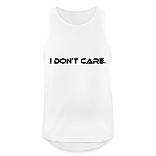 I DON T CARE Design, Ist mit egal, schlicht, cool - Männer Tank Top atmungsaktiv