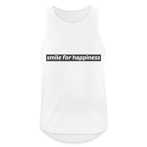 smile for happiness - Andningsaktiv tanktopp herr