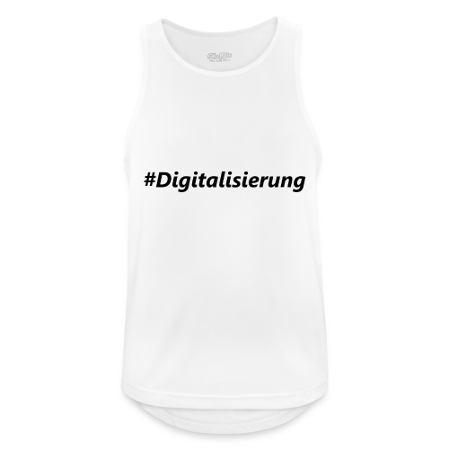 #Digitalisierung black - Männer Tank Top atmungsaktiv