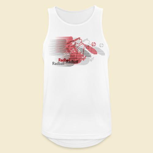 Radball | Earthquake Red - Männer Tank Top atmungsaktiv