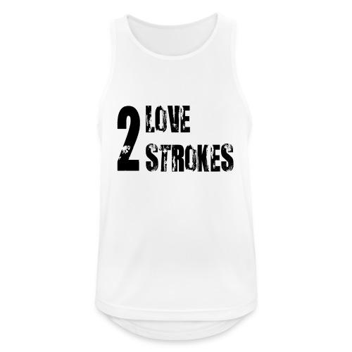 Love 2 Strokes - Canotta da uomo traspirante