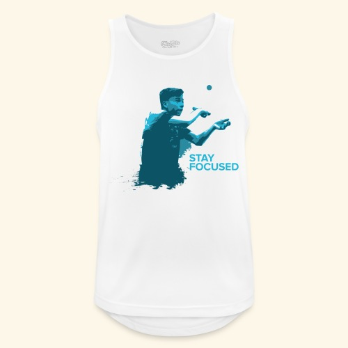 Stay Focused and enjoy the game ping pong - Männer Tank Top atmungsaktiv