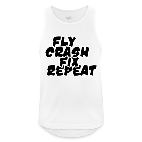 FlyCrashFixRepeat signed - Men's Breathable Tank Top