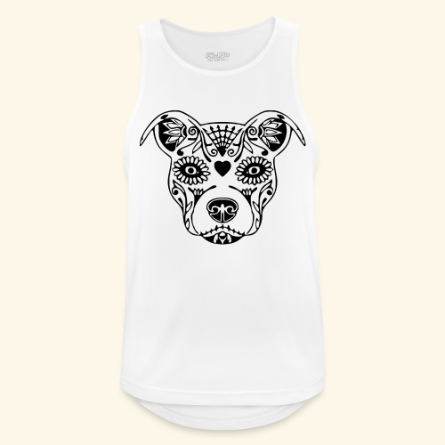 T-shirt Male Cool Dog Printing Tops Hipster Style - Débardeur respirant Homme