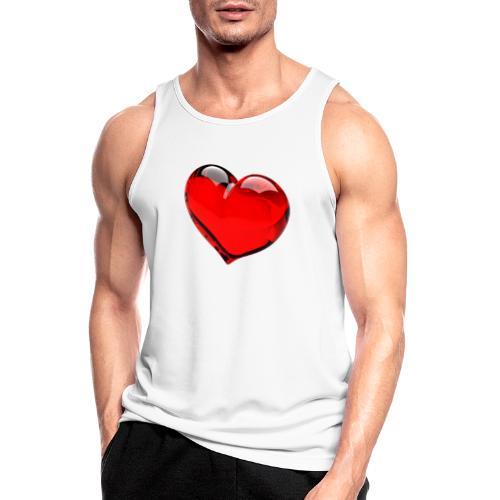 serce 3D - Tank top męski oddychający