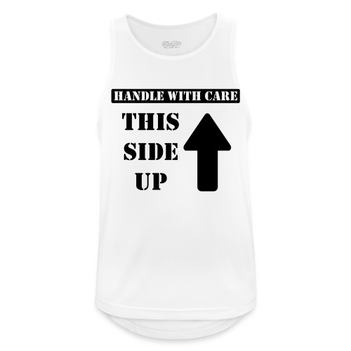 Handle with care / This side up - PrintShirt.at - Männer Tank Top atmungsaktiv
