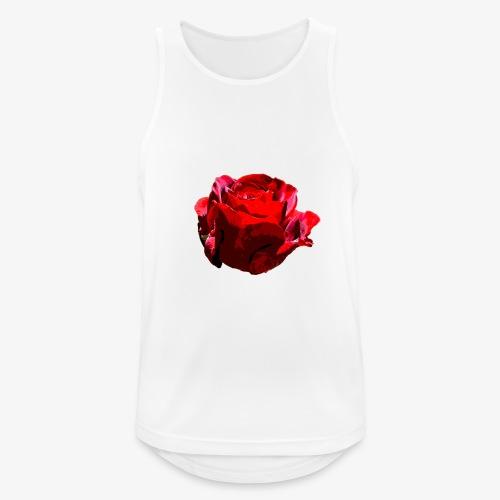 Red Rose - Männer Tank Top atmungsaktiv