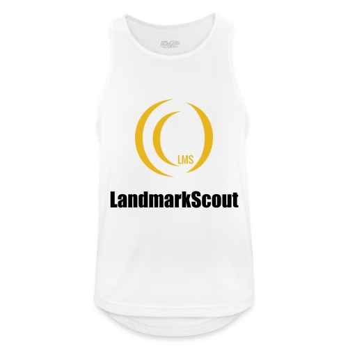 Tshirt White Front logo 2013 png - Men's Breathable Tank Top