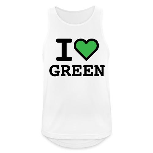 i-love-green-2.png - Canotta da uomo traspirante