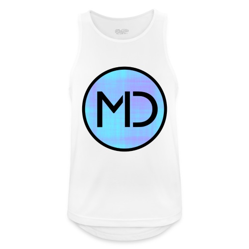 MD Blue Fibre Trans - Men's Breathable Tank Top