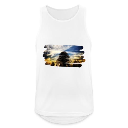 tree and sunset - Tank top męski oddychający