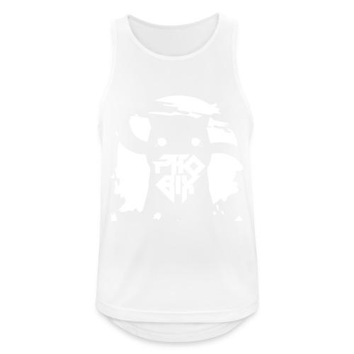 white 01big png - Männer Tank Top atmungsaktiv