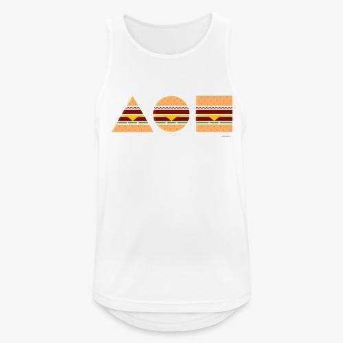 Graphic Burgers - Canotta da uomo traspirante